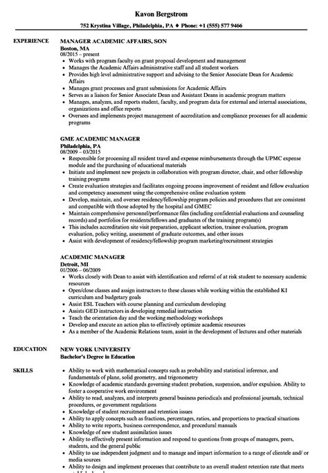 Academic Resume by 16 Academic Resume Exles Letter