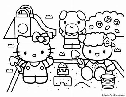 Kitty Hello Coloring Pages Sheet Printable Elmo