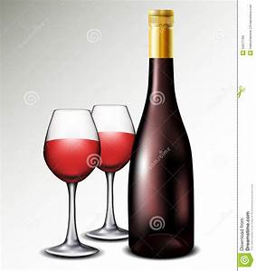 Wine bottle with glasses stock photo. Image of object ...