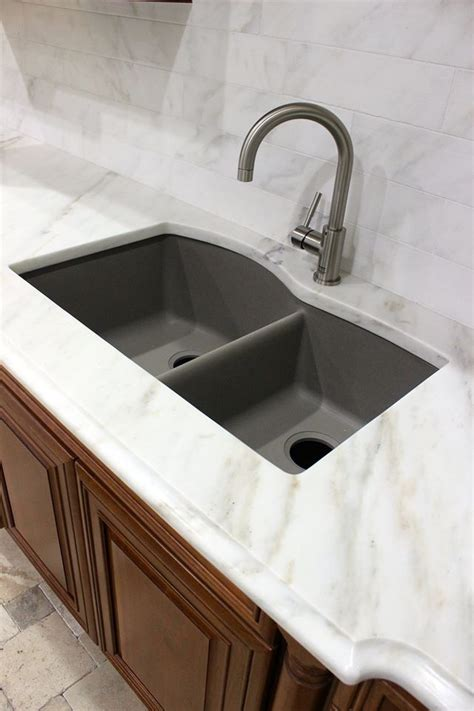 white marble blanco sink granite composite sink