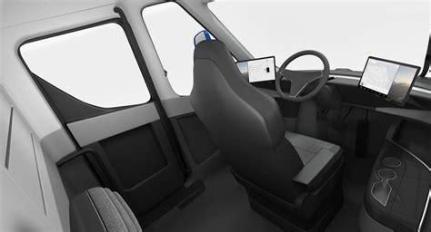 electric semi truck tesla simple interior  molier