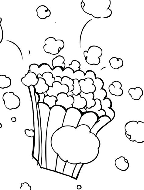 popcorn kernel coloring page  getcoloringscom