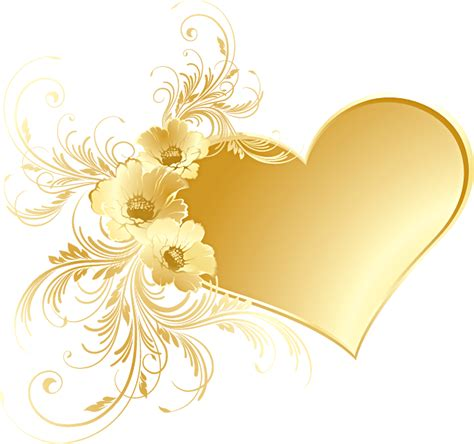 gold heart  flowers png picture gallery yopriceville