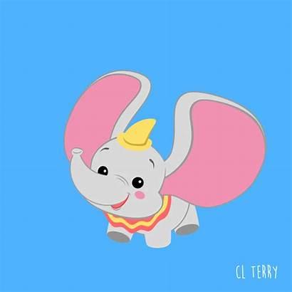 Cartoon Disney Elephant Animals Gifs Drawing Animated