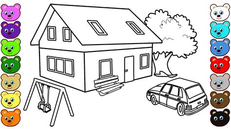 house courtyard coloring pages  kids youtube