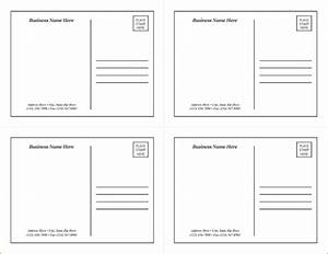 Postcard template word free business template for Postcards templates for word