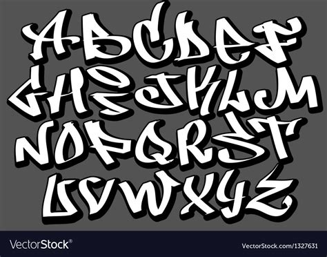 Graffiti Text : Graffiti Font Alphabet Abc Letters Royalty Free Vector Image