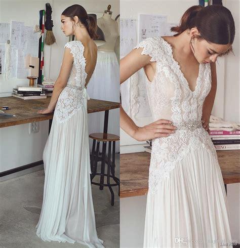 Discount 2018 Boho Beach Wedding Dresses Bohemian Bridal