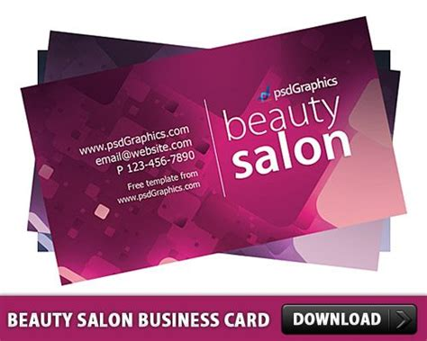 Download Free Beauty Salon Business Card Template Free Psd