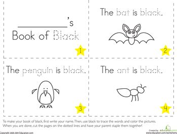 black worksheet the color black projects for learning colors