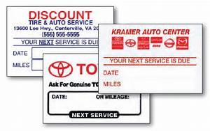 custom reminder oil change stickers car dealerships With custom oil change stickers