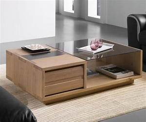 meuble contemporain en chene massif pour salle de sejour With meubles chene massif contemporain