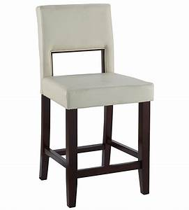 24 Inch Vega Counter Stool - White in Counter Height Bar