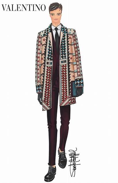 Valentino Maison Artworks Illustration Created Wearable Menswear