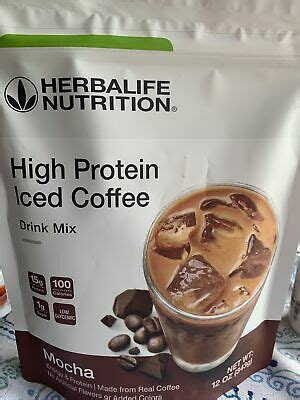 Always read ingredient lists carefully. HERBALIFE High Protein Iced Coffee - Mocha Flavor Or House Blend   eBay