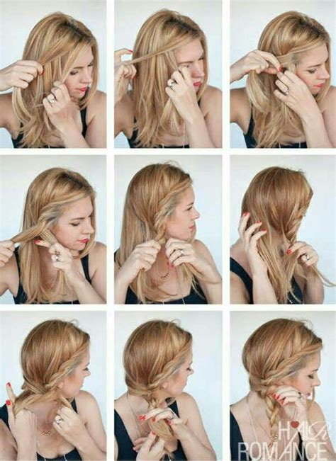 easy hairstyle for long hair step by step photo nail