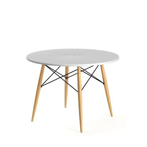 table a manger ronde table 224 manger ronde skoll style scandinave par drawer