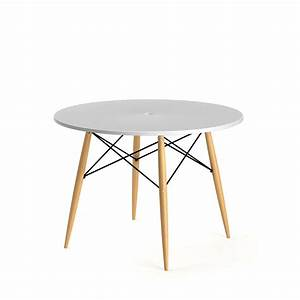 Table A Manger Ronde Blanche : table manger ronde skoll style scandinave par drawer ~ Teatrodelosmanantiales.com Idées de Décoration