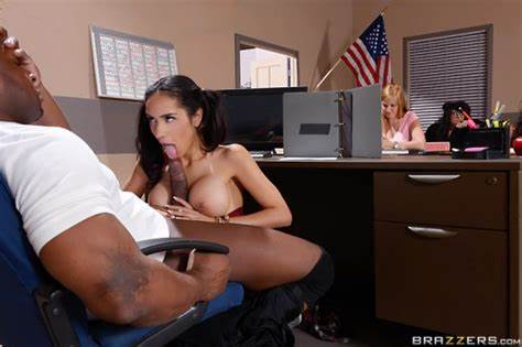 Bitch Drilling Young On Teachers Desk