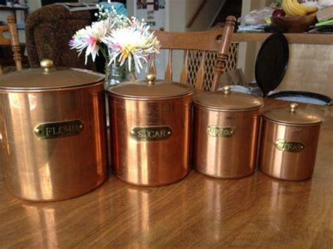 copper canisters ebay