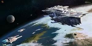 concept ships: Spaceship concept art by Florent Llamas