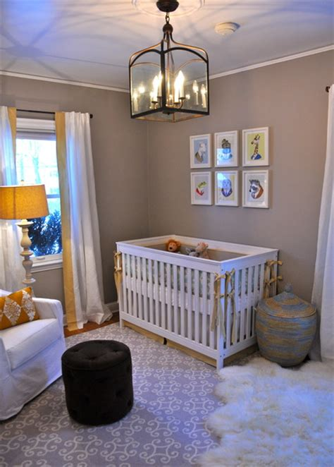 serene gender neutral nursery for a baby