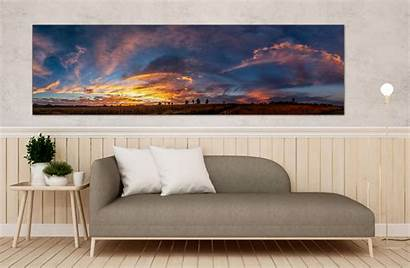 Wall Canvas Sunset Cloudscape Panoramic Landscape South