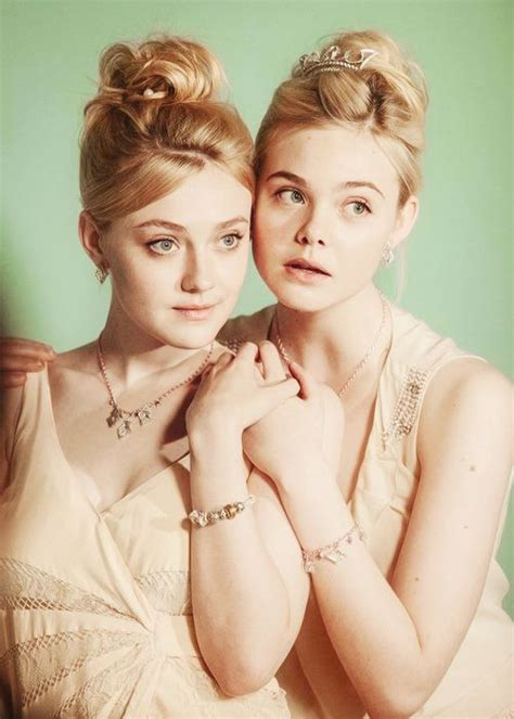 the fanning sisters celebrity photography pinterest