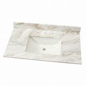 Home Decorators Collection 37 in W Marble Single Basin