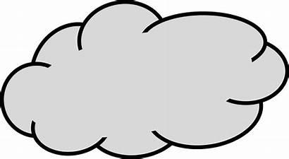 Cloud Clip Clipart Grey Clouds Clod Clker