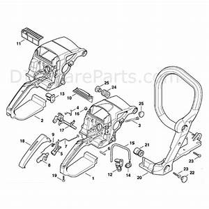 Stihl Ms 310 Chainsaw  Ms310  Parts Diagram  Handle Housing