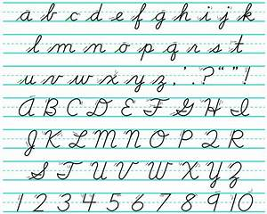 French Cursive Alphabet | Dedicated | Pinterest | 7 year ...