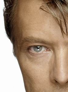 David Bowie eyes (left half) by Terry O'Neill