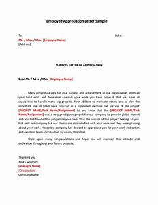 employee appreciation letter sample With employee recognition letter format