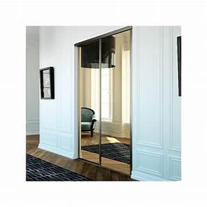 portes de placard coulissantes miroir bronze achat en ligne With porte coulissante placard miroir