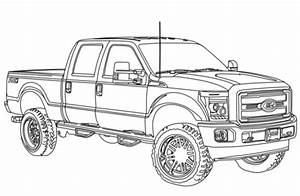 2014 ford f250 lifted coloring page free printable With 1949 ford f 250 4x4