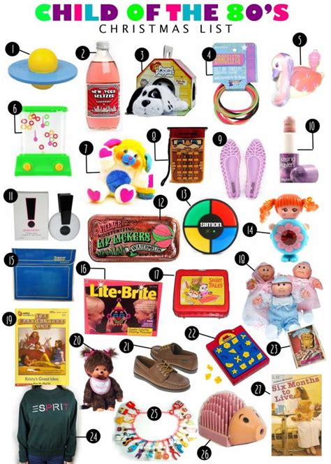 my 80 s child christmas gift list enjoying the small things