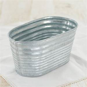 Small Oval Galvanized Washtub - Pails, Tubs and Buckets
