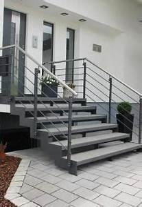 Geländer Treppe Aussen : au entreppe in stahl und stein diy deko eingang stairs eingangstreppe eingang treppe und ~ A.2002-acura-tl-radio.info Haus und Dekorationen