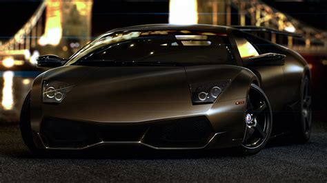 Full Hd Wallpaper Lamborghini Murcielago Lux Night