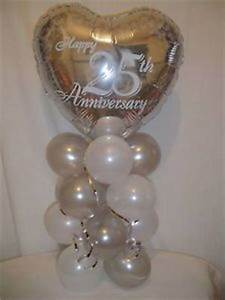 wedding anniversary 25th 30th 40th 50th 60th table With 25th wedding anniversary balloons decorations