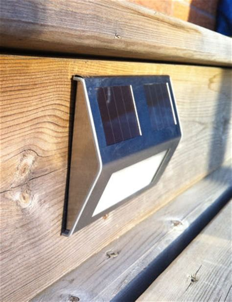 solar deck lights set of 4 solar step lights solar