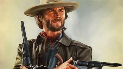 Clint Eastwood Guns Artwork Hands