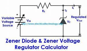 Zener Diode  U0026 Zener Voltage Regulator Calculator