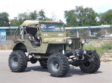 jeep willys custom lifted jeep 1951 willy 39 s jeep m38 cj2 rock climber v 8