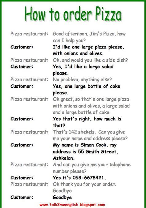 ordering food speaking activity part   esl