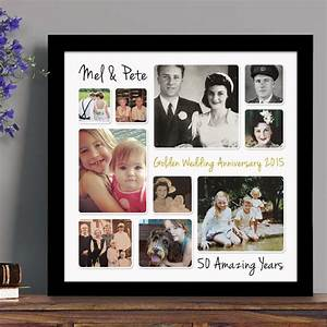 personalised golden wedding anniversary photo collage by With wedding photography printing