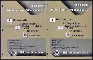 automotive service manuals 1997 oldsmobile 88 user handbook 1997 bonneville 88 88 ls lss regency le sabre repair shop manual set