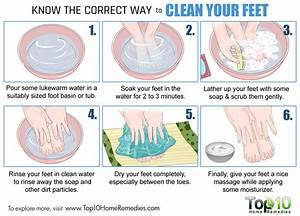 Know The Correct Way To Clean Your Feet Top 10 Home Remedies