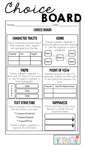 respond  text printables upper elementary snapshots